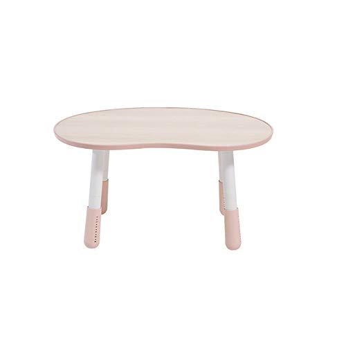 XSN Kindertisch Kindermöbel Schreibtisch Einstellbare Hubhöhe, Stabil Und Robust,Kleiner Runder Tisch, Geeignet Für Kinderzimmer, Schlafzimmer, Im Freien