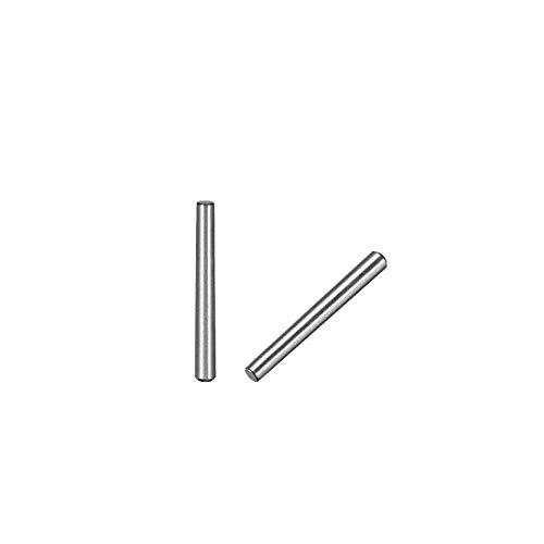 sourcing map 25Stk. 45# Kohlenstoffstahl GB117 30mm Länge 3mm Kleiner Ende Durchmesser 1:50 Kegelstift