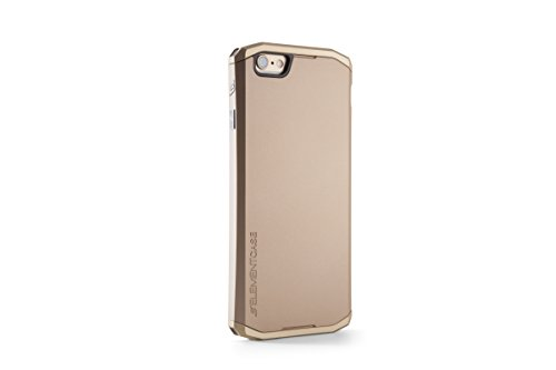 Element Case Solace - Carcasa con molduras doradas para iPhone 6