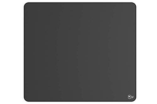 Glorious Pc Gaming Race Elements Tapis Souris XXL - Ice - Taille : 380 x 430 x 4 mm - Surface en Tissu Infusé de Verre - Noyau en Mousse - Base en Caoutchouc Antidérapante - Tapis de Bureau - Noir