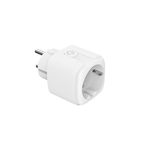 Woox Mini WiFi Stecker Smart Socket Wlan Plug Timer Funktion Alexa Google Assistant Kompatibel, Kein Hub Erforderlich, CE RoHS zertifiziert