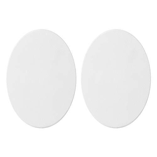 2 châssis entoilés ovales pour peinture à l'huile, vierge, à peindre, Coton, 40cm*50cm