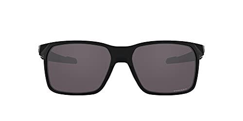Oakley Men's OO9460 Portal X Rectangular Sunglasses, Polished Black/Prizm Grey, 59 mm