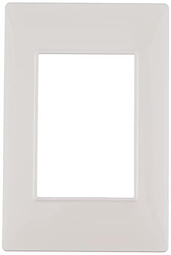 Vimar 14653.01, Plana Placca 3 moduli in tecnopolimero, Bianco, 1 pezzo,