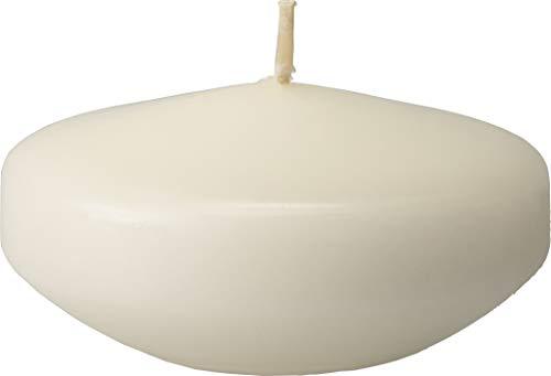 safe candle Schwimmkerzen, groß, Brenndauer 8 Std. (Wollweiß), 12 Stück