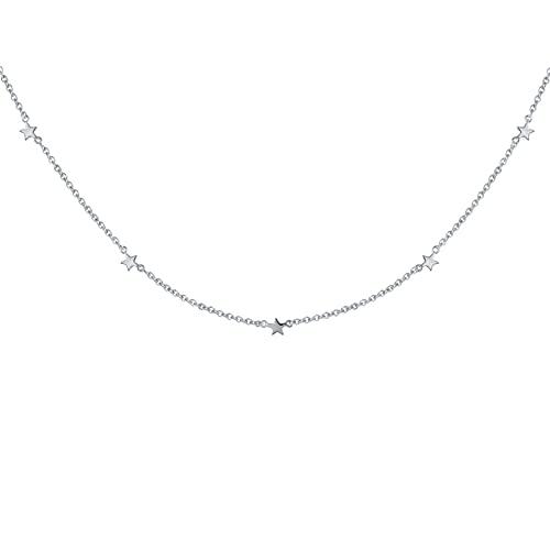 MIKUAD Collar Plata de Ley 925, Colgantes de Mapa del Mundo de Moda, Collares, joyería de Viaje, Estrella de Luna, Encanto geométrico, Gargantilla, Collar, joyería