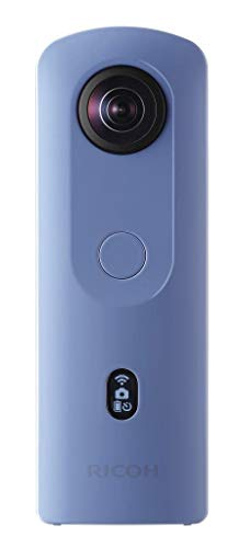 RICOH Theta SC2 Blue 360°Camera 4K Video with Image stabilization High Image Quality High-Speed Data Transfer Beautiful Night View Shooting with Low Noise Thin & Lightweight for iPhone, Android