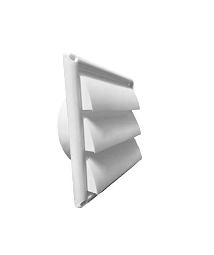 OICOTA Plastic Air Vent Grille Cover Wall Duct Ventilation 3 Open Grill, Size-6-inch