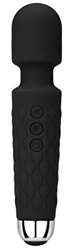 Powerful Viberate Massager with 20 Magic Vibration Modes, Whisper Quiet, Waterproof, Handheld, Cordless for Neck Shoulder Back Body Massage, Sports Recovery & Muscle Aches - Black