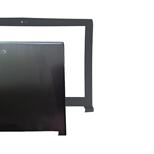 Laptop-Ersatzteile Kompatibel mit MSI GE62 2QD-007XCN MS-16J1 16J1 16J2 16J3 Obere LCD-Rückseite schwarz Non-Touch/LCD-Rahmenabdeckung/LCD-Scharniere LundR/Scharnierabdeckung (Color : A and B Shell)