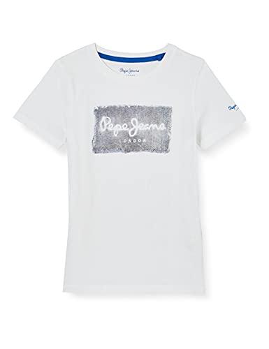 Pepe Jeans Jacob Camiseta, 802optic White, 6 para Hombre