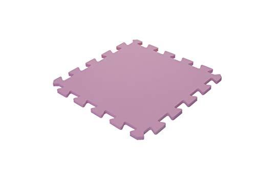 Iris Ohyama–Alfombra de protección de suelo Puzzle/alfombra de actividades para bebé y niño, goma EVA, rosa, 45 cm