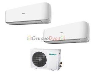 Climatizzatore Dual Hisense Inverter Mini Apple Pie 7000+12000+Amw2-16U4Sgd1