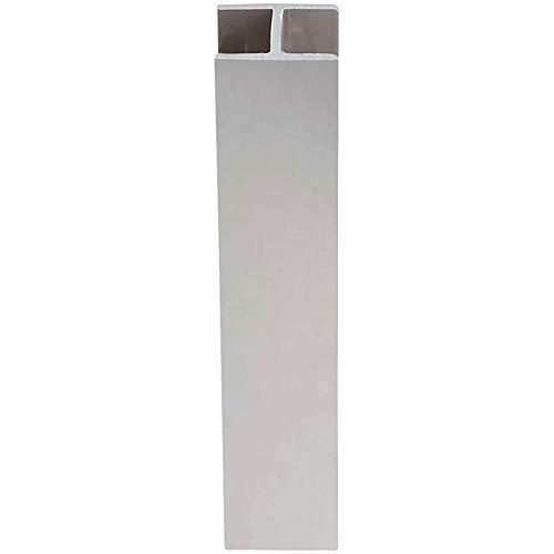 Jonction droite pvc décor alu - Hauteur : 120 mm - VOLPATO