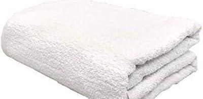 【2枚組】70x140cm 550g 約1800匁 バスタオル 業務用 ホテル仕様 100%綿 (白)