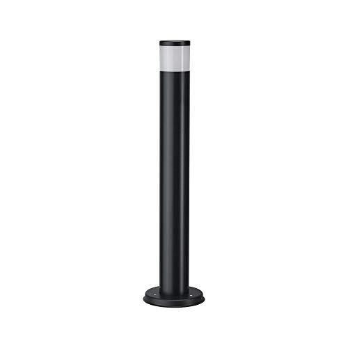 Paulmann 94190 Outdoor Pollerleuchte 230V IP44 Spritzwassergeschützt Wegelampe für G10 Lampen Wegstrahler Grau ohne Leuchtmittel, Edelstahl