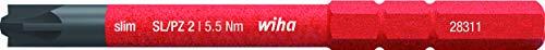 Wiha Bit slimBit electric PlusMinus/Pozidriv (34590) SL/PZ2 x 75 mm für tiefliegende Schrauben, Allrounder für Elektriker