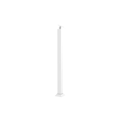 HAOFAY Square Tube Column, Modern Handrail Support Column for Outdoor Indoor(Color:White,Size:95cm)