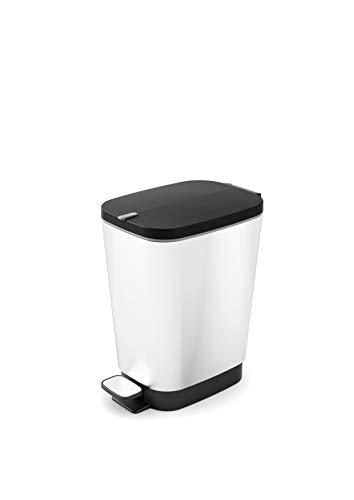Kiss KIS Abfallbehälter, Kunststoff, Silber, 18 x 27 x 30