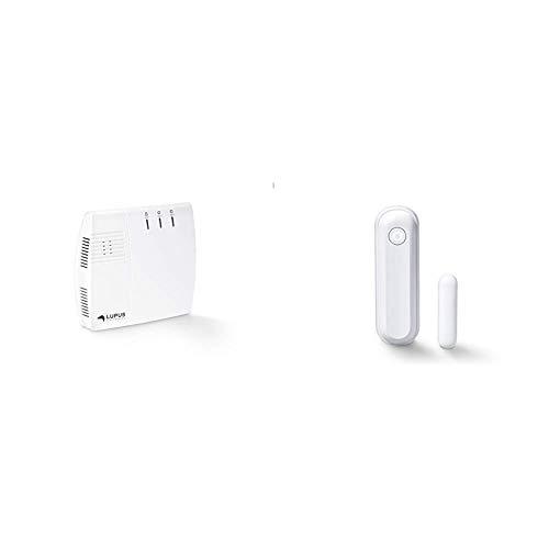 Lupus-Electronics XT2 Plus Zentrale, Smarthome Alarmanlage, APP Zugriff und größtem Zubehörsortiment & Fenster Türkontakt V2 für die XT Smarthome Alarmanlagen, Weiss, 27,7 x 21,2 x 86,85 mm