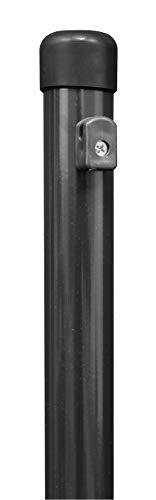 Gah-Alberts 613297 - Palo per recinzioni in rete metallica, fosfato di zinco, rivestito in plastica, colore: antracite metallizzato, lunghezza 1150 mm, Ø 34 mm