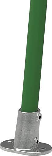Fenau | Boden-Flansch, oval, 0-11°, Ø 33,7 mm, Wand-Flansch, Decken-Flansch, Stütze, Temperguss galvanisiert, feuerverzinkt, inkl. Schrauben