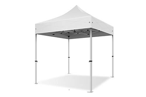 ACTIEXPRESS Tente Pliante 2X2 Structure en Aluminium 40mm Toit 300g/m² qualité professionelle (Blanc)