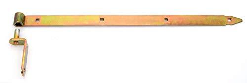 Ladenband Set mit Kloben 1000 x 50 x Ø18 gelb Ladenbänder Torband Türband Türbänder NW-ZP1000