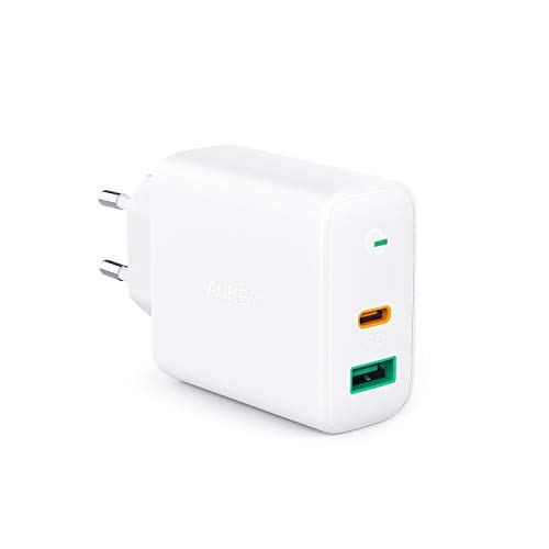 AUKEY USB C Ladegerät 30W für iPhone 12, 18W USB Schnellladen Netzteil mit Dynamic Detect & GaN Tech, PD Ladegerät für 13''MacBook Pro, iPhone 11 Pro, AirPods Pro, Google Pixel, iPad, Nintendo Switch