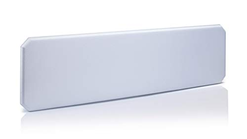 Oktagon Akustik Tischtrennwand, Schallschutz - Paneel, Stellwand schallabsorbierend, geprüft nach DIN EN ISO 354, Größe: 1600 B x 435 H x 50 D (mm), Farbe: grau