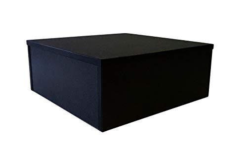Ladeneinrichtung Warenträger Sockel Podest Schwarz (L: 50cm, H: 50cm, T: 20cm)