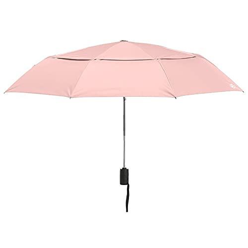 Overlord Paraguas ultravioleta plegable paraguas paraguas paraguas sombrilla bar doble UPF50 + (color: rosa doble capa)