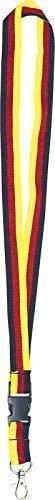 Fan-O-Menal Schlüsselband Schlüsselanhänger - Deutschland schwarz-rot-gelb - 07110 Länge ca. 46cm