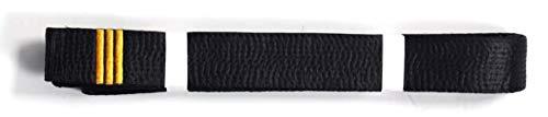 Shihan 3 DAN BAR Karate Black Belt Satin Embroidery 3 DAN BAR's 320cm Length Kempo Kickboxing