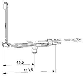 MACO MM Eckumlenkung für Bodenschwelle 18L, FFB 260-1650 mm, silber (209881) ; 1 Stück