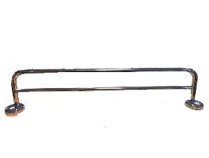 Lenz Badkultur Lindau Badetuchhalter / Handtuchhalter 38cm. doppelt Metall verchromt