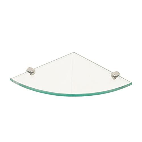 JJYGYTG Estante de 2 piezas de estante de esquina de cristal triángulo estante de almacenamiento montado en la pared estante estante de almacenamiento adecuado para baño, baño y cocina