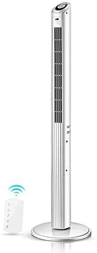 HMMN Ventilador de pie con inconveniente, Ventilador de Torre de Pedestal oscilante de 3 velocidades de 48 ', Temporizador de 8 Horas con Control Remoto (Size : A)
