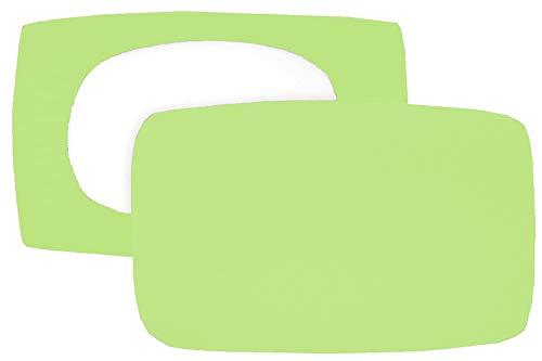 Home Edition 2er Pack Spannbezug für Nackenstützkissen Baumwolljersey (mit Elasthan) 36x50 bis 36x60 cm (grün)