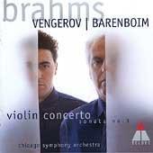 ヴァイオリン協奏曲、ヴァイオリン・ソナタ第3番 ヴェンゲーロフ(vn)、バレンボイム(指揮、ピアノ)、シカゴ交響楽団