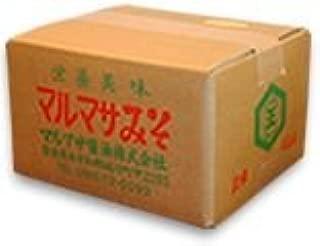 マルマサ 麦みそ 無添加 国内産 原料 100% ( 国産 麦 みそ 粒みそ タイプ ) 4㎏箱入