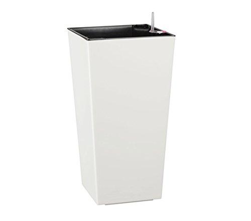 Dehner Elise–Maceta con Sistema de autorriego, plástico, Aprox. 36X 20X 20CM, Color Blanco