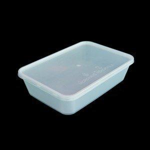 En plastique réutilisable Récipient alimentaire (Idéal pour le micro-ondes, réfrigérateur, congélateur, lave-vaisselle), capacité 500 ml, plastique Lot de 10