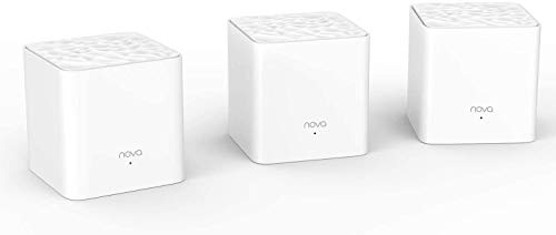 Tenda MW3 Whole Home Mesh WiFi System, Dual Band AC1200 Router Replacement for Smart Home, Works with Amazon Alexa for 3000 sq. ft Network Coverage (White, Pack of 3)