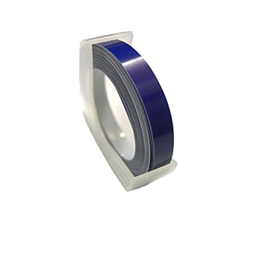 F-Mingnian-rsg Massima qualità per DYMO 1610 Etichette per Etichette in Rilievo 3D e Nastro Nastro per Etichette 6mm 3m Nero Rosso Blu Verde (Color : Blue)