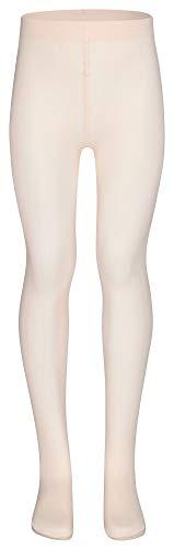 tanzmuster ® Ballettstrumpfhose Mädchen - Lena - kein Kratzen und Rutschen, äußerst strapazierfähig (Keine Laufmaschen), Strumpfhose fürs Kinder Ballett in rosa-apricot, Größe 152-170