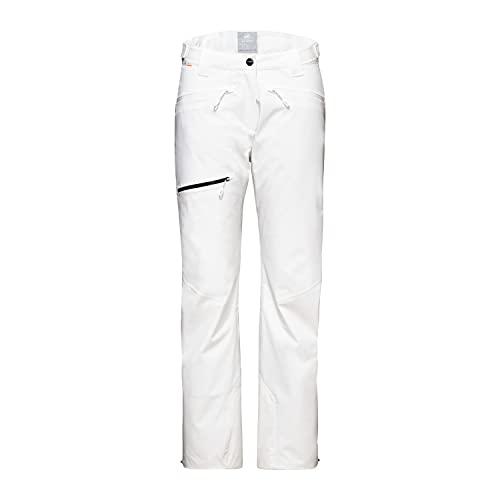 Mammut Stoney Thermo Pantalones para Senderismo, Blanco, 44 para Mujer