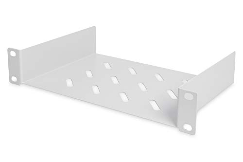 DIGITUS Fachboden - 1HE - 10-Zoll (254 mm) - Für Netzwerk-Schrank - perforiertes Stahl-Blech - Grau