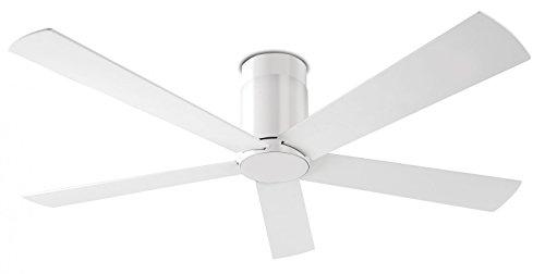 LEDS-C4 Rodas - Ventilador de techo (incluye mando a distancia, 132 cm, incluye kit de montaje), color blanco
