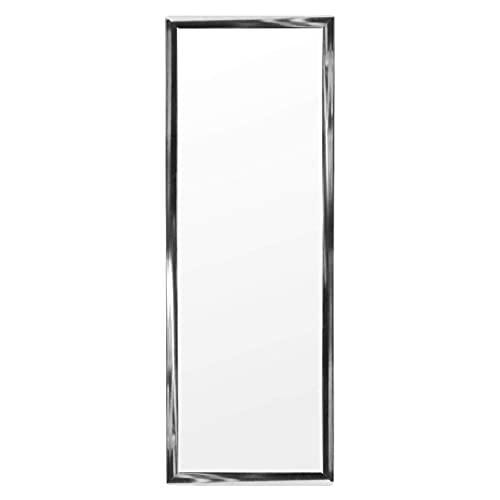 DRULINE Türspiegel Tür Spiegel Hängespiegel Rahmenspiegel Silber Hochglanz 30 x 90 cm (1 Stück)